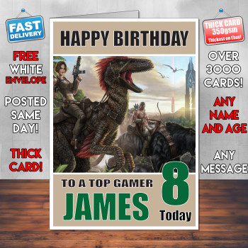 Ark Survival Evolve Bm1 Personalised Birthday Card