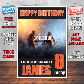 Battlefeild 4 2 Bm1 Personalised Birthday Card