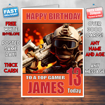 Battlefield 2 Bm2 Personalised Birthday Card