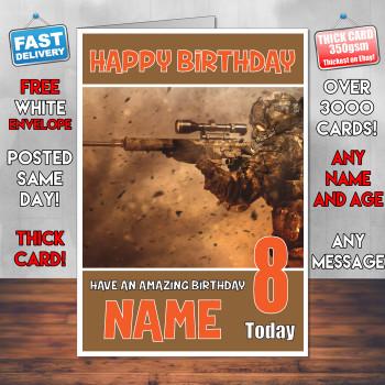 Battlefield 4 Bm2 Personalised Birthday Card