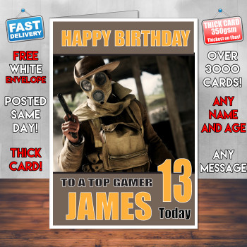 Battlefield 5 Bm2 Personalised Birthday Card
