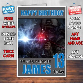 Battlefield 6 Bm2 Personalised Birthday Card