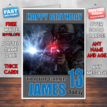 Battlefield 6 Bm2 Personalised Birthday Card