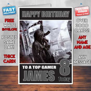 Homefront Bm1 Personalised Birthday Card