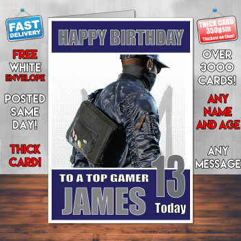 Marcus Watch Dogs Bm2 Personalised Birthday Card