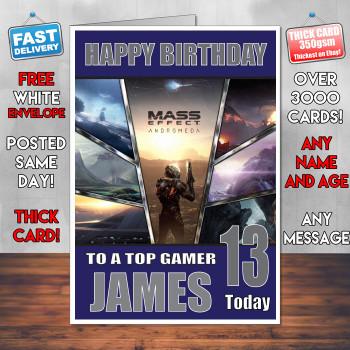 Mass Effect Bm2 Personalised Birthday Card
