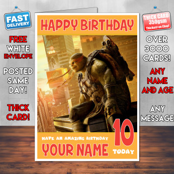 Michelangelo Bm1 Personalised Birthday Card