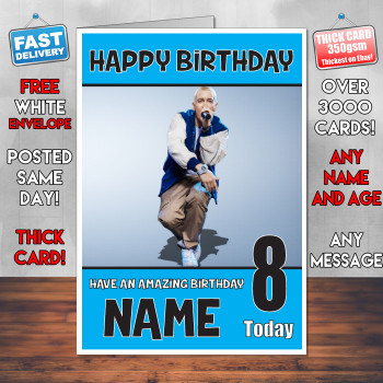 Eminem Bm2 Personalised Birthday Card