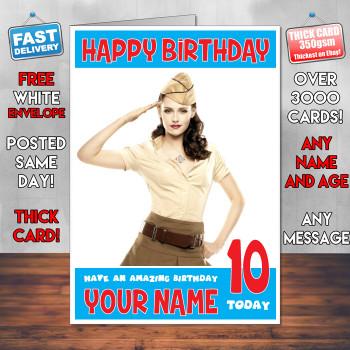 Kristen Stewart Bm1 Personalised Birthday Card