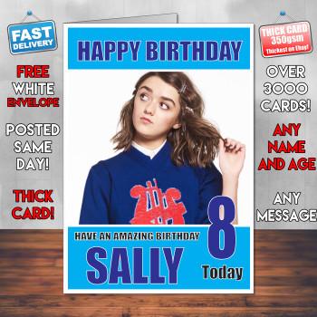 Maisey Williams Bm1 Personalised Birthday Card
