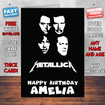 Metallica 2 Personalised Birthday Card