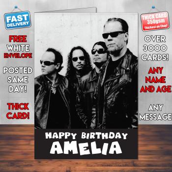 Metallica Personalised Birthday Card
