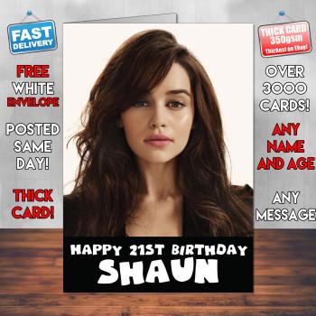 Emilia Clarke Sexy Card Personalised Birthday Card