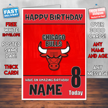 Chicago Bulls Bm2 Personalised Birthday Card