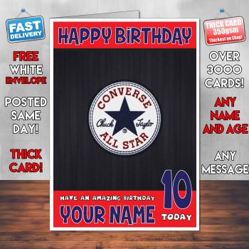 Converse Bm2 Personalised Birthday Card