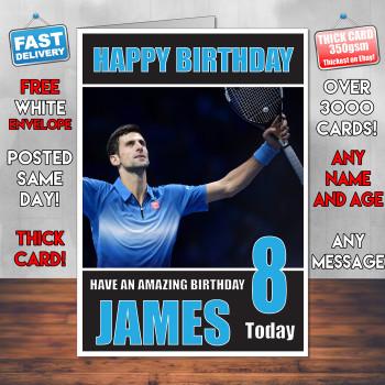 Djokovic Bm1 Personalised Birthday Card