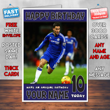 Eden Hazard 2 Bm2 Personalised Birthday Card