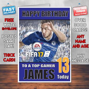 Eden Hazard Bm2 Personalised Birthday Card