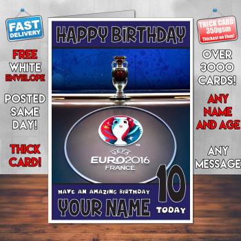 Euro 2018 France Bm2 Personalised Birthday Card