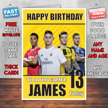 Fifa Footy 2 Bm2 Personalised Birthday Card