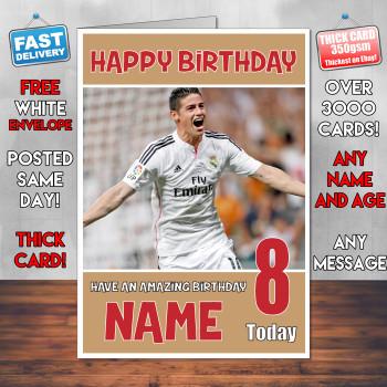 James Rodriguez Bm2 Personalised Birthday Card