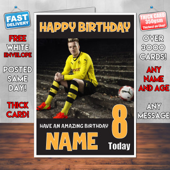 Marco Reus Bm2 Personalised Birthday Card