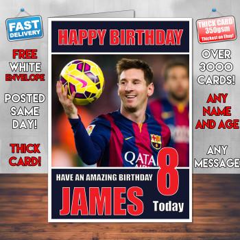 Messi 2 Bm1 Personalised Birthday Card
