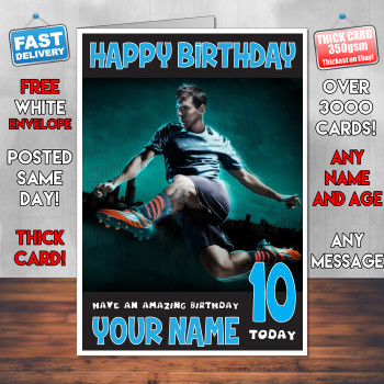 Messi 2 Bm2 Personalised Birthday Card