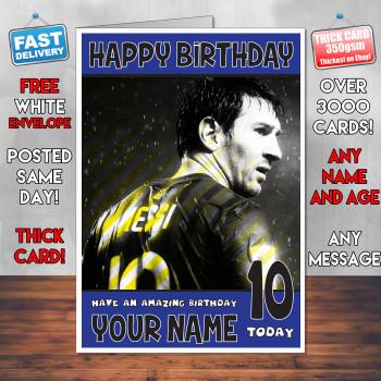 Messi 3 Bm1 Personalised Birthday Card
