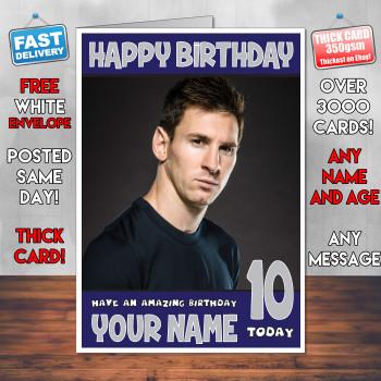 Messi 4 Bm2 Personalised Birthday Card