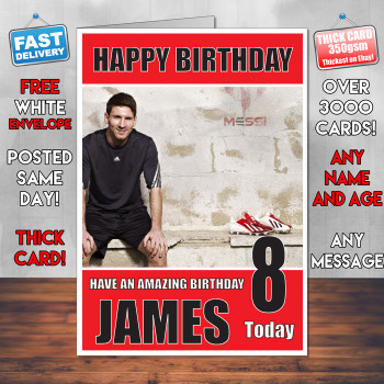 Messi Bm1 Personalised Birthday Card