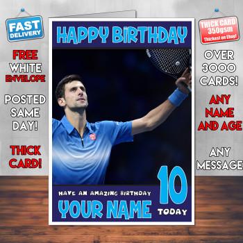 Novak Djokovic Bm2 Personalised Birthday Card