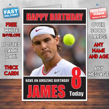 Rafael Nadel Bm1 Personalised Birthday Card