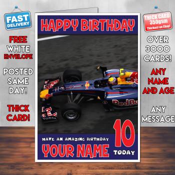 Redbull Bm2 Personalised Birthday Card