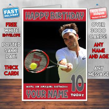 Roger Federer Bm2 Personalised Birthday Card