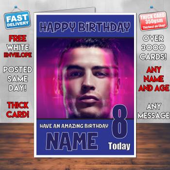 Ronaldo 2 Bm2 Personalised Birthday Card