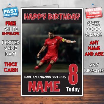 Ronaldo Bm2 Personalised Birthday Card