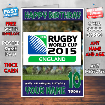 Rugby World Cup Bm2 Personalised Birthday Card