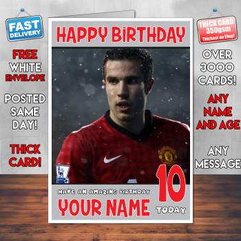 Van Persie Bm2 Personalised Birthday Card