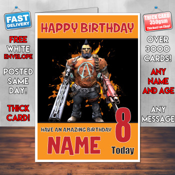 Borerlands 2 Bm1 Personalised Birthday Card