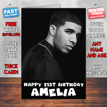 Drake Birthday Card Personalised Birthday Card