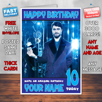 Now You See Me 2 Daniel Bm1 Personalised Birthday Card