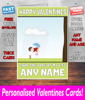 His Or Hers Valentines Day Card KE Design100 Valentines Day Card