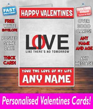 His Or Hers Valentines Day Card KE Design105 Valentines Day Card