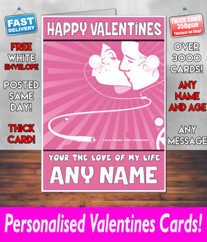 His Or Hers Valentines Day Card KE Design112 Valentines Day Card