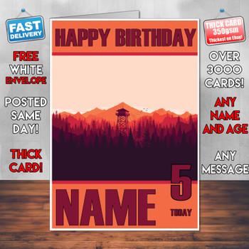 Firewatch 2016 Personalised Birthday Card
