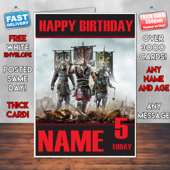For Honor 2017 Personalised Birthday Card