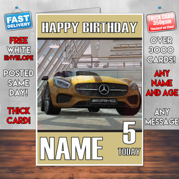 Grand Turismo Sport 2017 Personalised Birthday Card