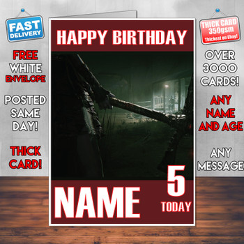 Outlast 2 2017 Personalised Birthday Card