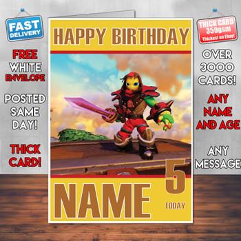Sky Landers Imaginators 2016 Personalised Birthday Card